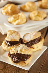 Homemade Chocolate Cream Puffs