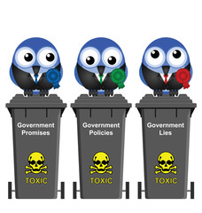 Promises Policies and Lies Government Bins