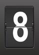 Analog panoda  sekiz  rakamı