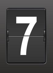 Analog panoda  yedi  rakamı