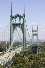 St Johns Bridge for Vehicles Over Willamette River