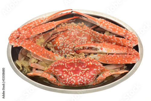 A Serving Of Cooked Flower Crab