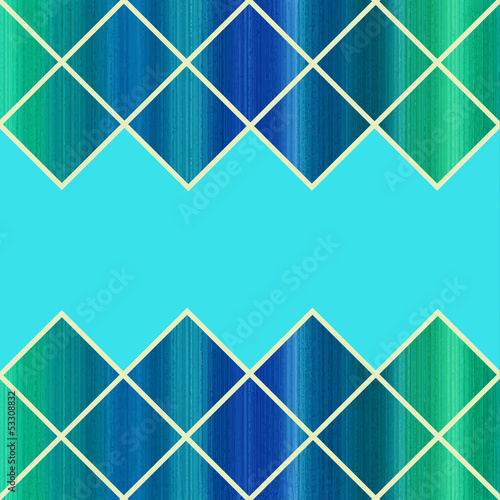 Colorful Harlequin Green and Blue Background. Vector Illustratio