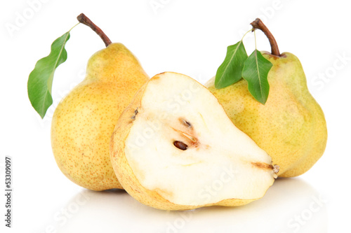 Juicy pears isolated on white © Africa Studio