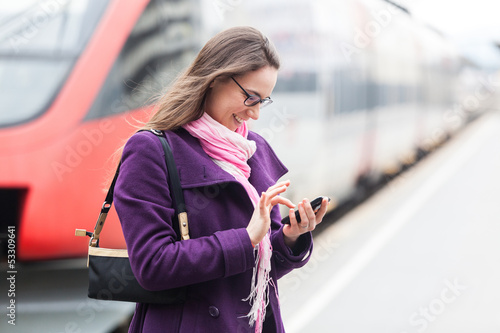 Young Business Woman at Station