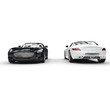 Supercars Black And White