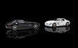 Supercars On Black Background