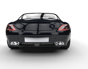 Black New Supercar Rear View