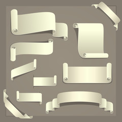 Elegant set of ten paper design elements. Vector EPS8 file.
