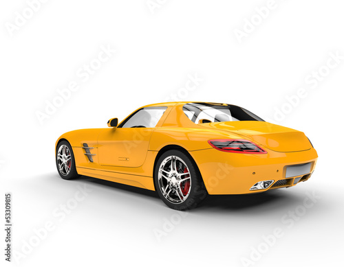 New Yellow Supercar