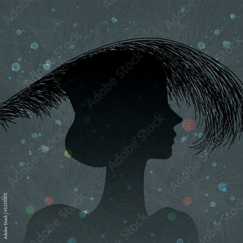 silhouette feather headdress