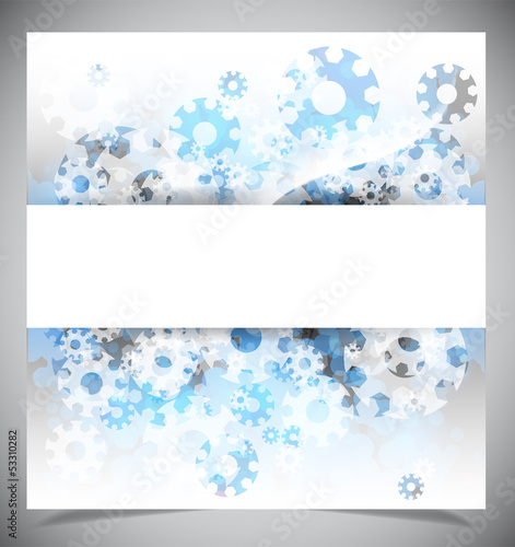 Blue and white modern abstract background