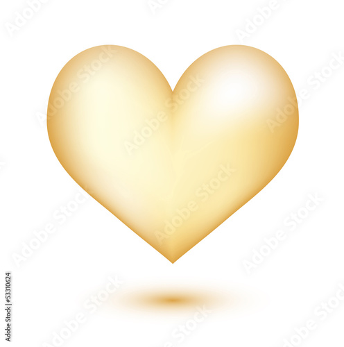 Golden heart 3D