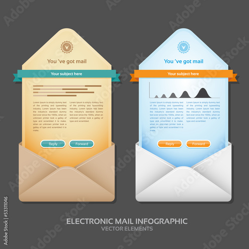 Email info graphic vector illustration