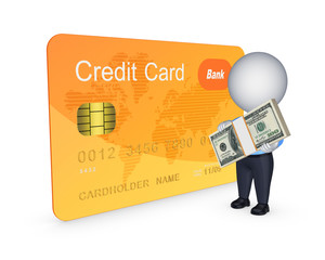 Credit card concept.