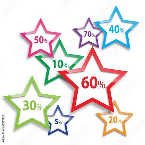 Vector discount, stars background