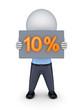 10 percents.