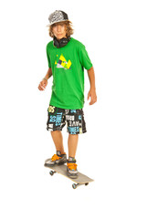 Teenager boy on skateboard