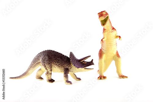 Poster Plastic dinosaurs
