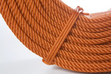 Roll of red polyester rope - close up poster