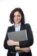 business woman holding folder