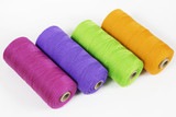 Rolls of colorful polyester rope - close up poster