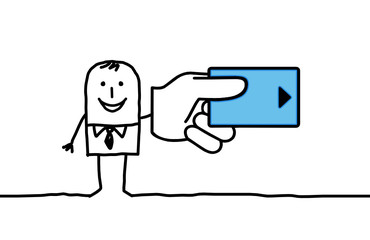 man & credit card