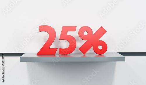 sale at 25 percent