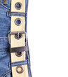 Blue jeans and leather belt