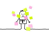 businessman & sticky notes