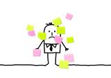 Fototapety businessman & sticky notes