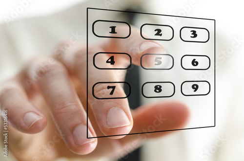 Virtual telephone keypad