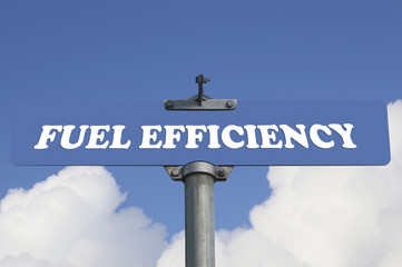 Fuel efficiency road sign