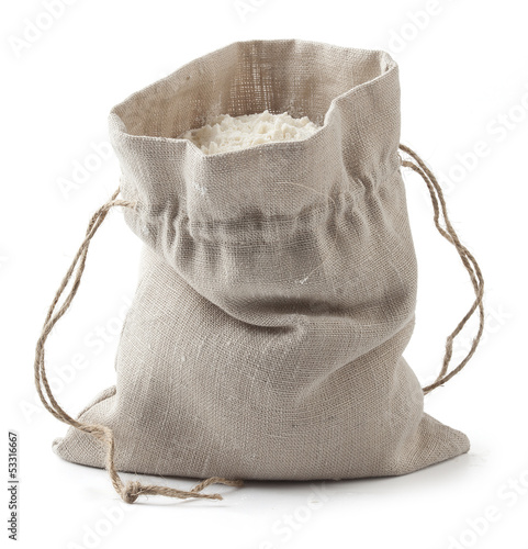 Sack with flour