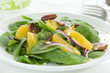Salad with oranges and spinach.