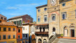 Street in Tuscany - illustration