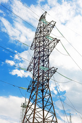 Power Transmission Line. Close-Up