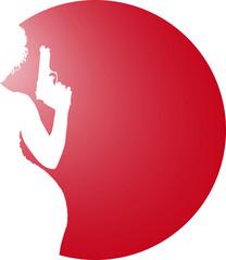 Gun Logo and Woman