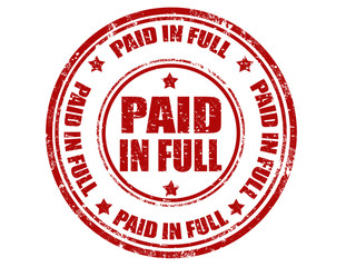 Paid in full-stamp