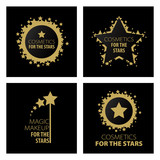 Fototapety collection of vector logos magic makeup for the stars