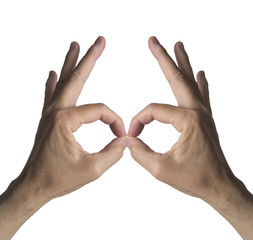 Mani a forma di maschera