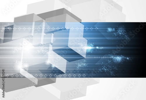 Blue technology vector design
