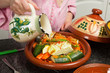 Islamic tajine preparation