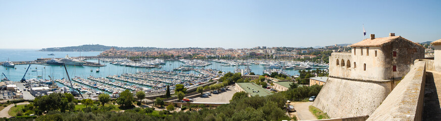 View of Antibes from fort Carre, France
