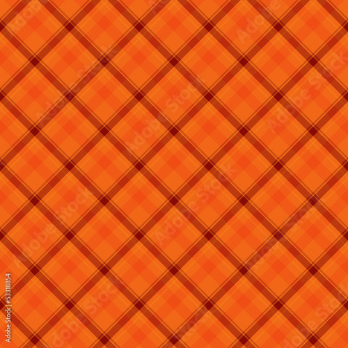 Orange  Plaid Fabric Background