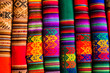 canvas print picture - Colorful Fabric at market in Peru, South America