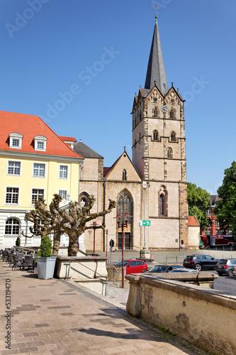 Leinwanddruck Bild Münsterkirche Herford, Deutschland