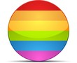Gay Flag Circle Button