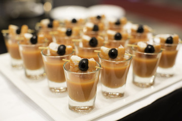 Sweet dessert in cocktail wedding party