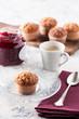 Delicious romantic madeleine breakfast